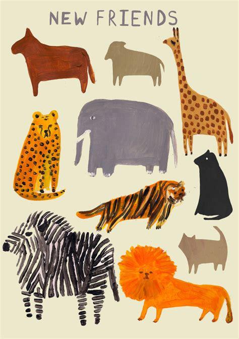 painting of zoo animals editors picks animals etsy journal