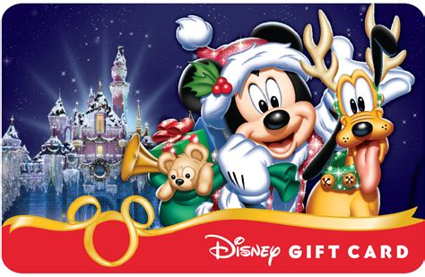 Walt Disney World Gift Card - smart phones add some magic to new holiday themed disney gift card designs