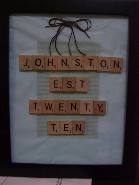 scrabble anniversary 26 best images about anniversary gifts on