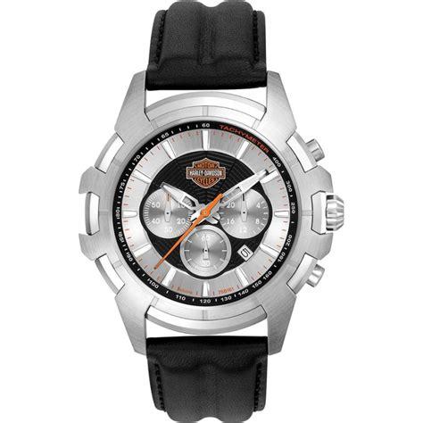 Harley Davidson Chronograph Leather Brd For 76b161 mens harley davidson watches2u