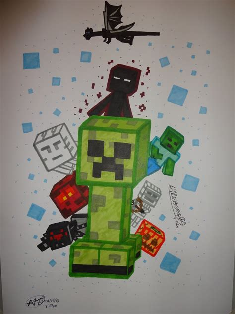all minecraft mobs drawings minecraft mobs by iamartofficial1 on deviantart
