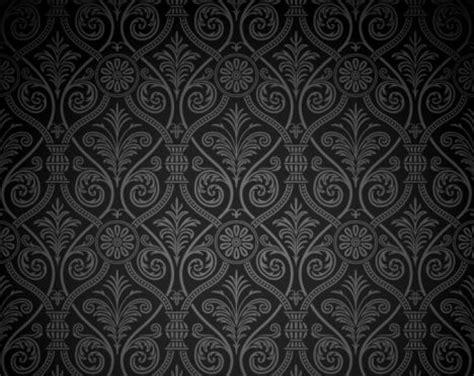 Premium Quality Luxurious Wallpaper 5 38 Pr Motif Bungashabby black damask pattern