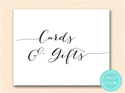 cards and gifts sign template wedding decoration signs magical printable