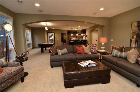 paint color ideas for basement family room lower level entertainment area