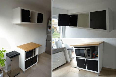 ikea hack kitchenette with ikea kallax ikea hackers