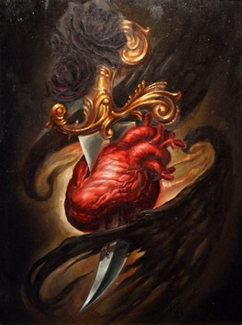tattooed heart original artist paradise tattoo gathering original art oil heart art