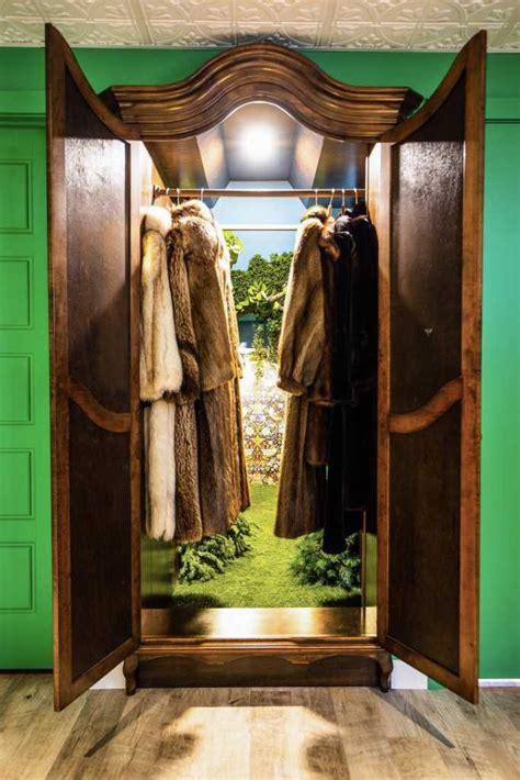 mom transforms storage closet  magical narnia themed
