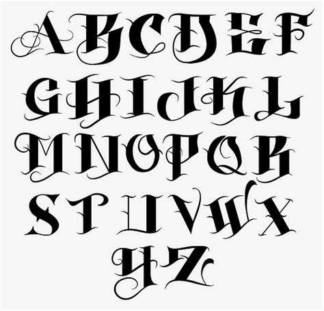 tattoo fonts a z az vintage tattoo font free wroc awski informator