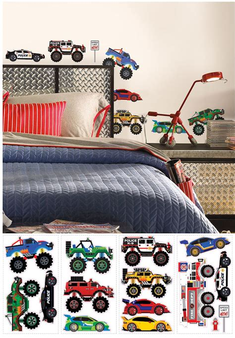 truck wall stickers trucks and transportation peel and stick decals