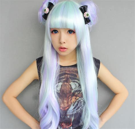 pastel colored wigs pastel mint wig