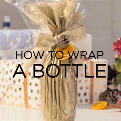 wrapping a gift how to wrap presents how to gift wrap bottles