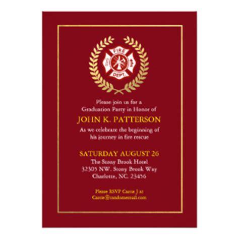 Firefighter Invitations Announcements Zazzle Firefighter Invitation Templates