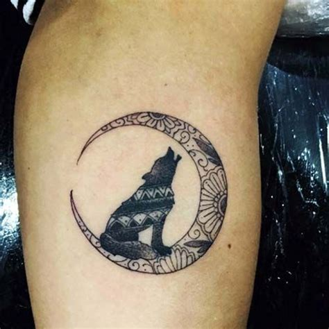wolf and moon tattoo best 25 wolf tattoos ideas on tree