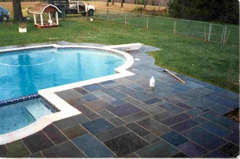 pool deck stone bright multicolord cut pool deck stone