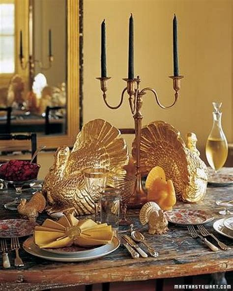 home decor turkey thanksgiving home decor ideas festive atmosphere in gold