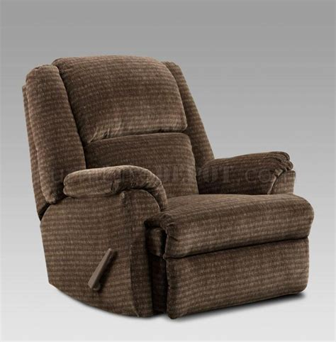 Modern Fabric Recliners by Chocolate Fabric Modern Chaise Rocker Recliner