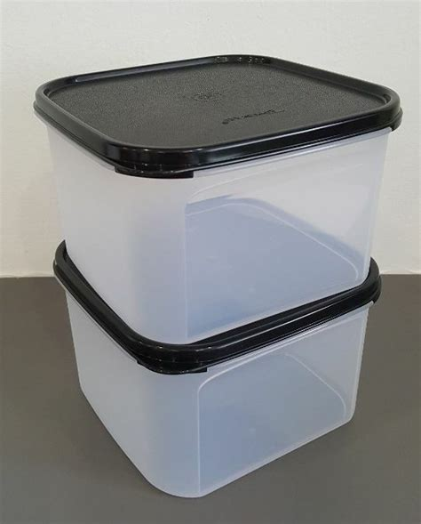 Seal Mm Square Tupperware tupperware clear modular mates 2 square containers w