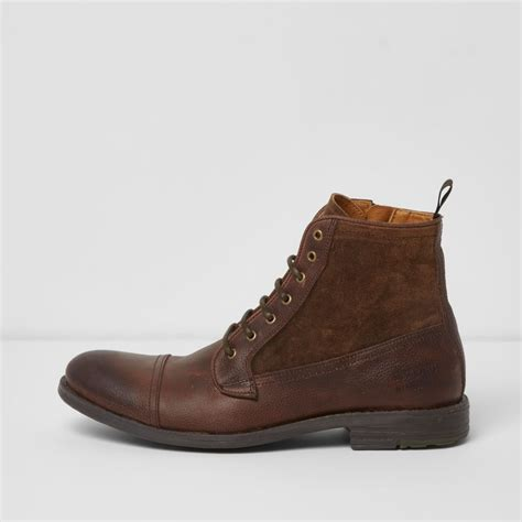 leather boots sale brown leather lace up boots shoes boots sale men