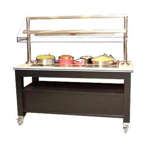 Heated Buffet Table Bon Chef 50157 Radiant Heated Mobile Buffet Station 68 L