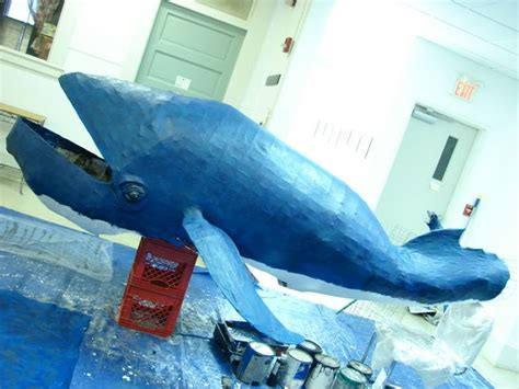 How To Make A Paper Mache Whale - paper mache whale craft ideas