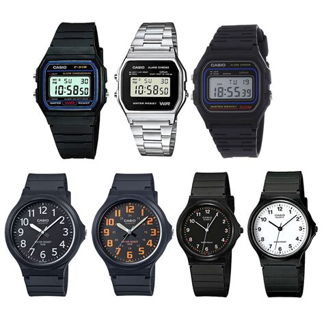 casio classic retro digital in silver black gold