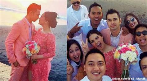 raffi ahmad gandeng nagita slavina di pernikahan fachri albar serba pink di pesta pernikahan raffi ahmad nagita di bali