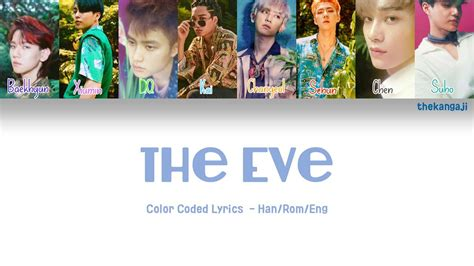 exo the eve lyrics exo 엑소 the eve color coded lyrics han rom eng youtube