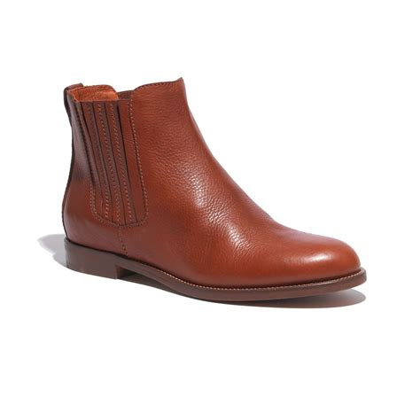 madewell the chelsea boot in brown lyst
