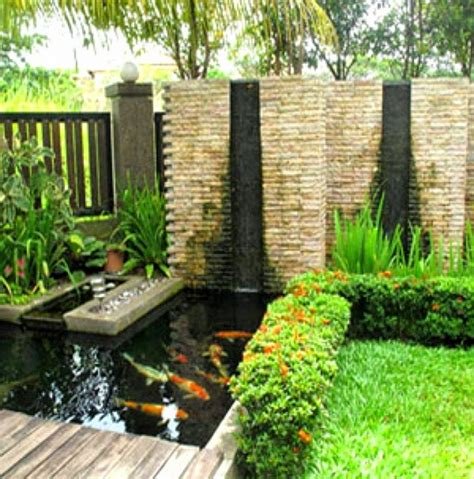 layout tentang taman desain rumah gebyog dngan taman kolam gambar desain taman