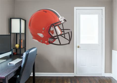 cleveland browns home decor cleveland browns helmet wall decal shop fathead 174 for cleveland browns decor
