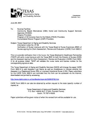 Tmhp Attestation Letter fillable dads state tx dads information letter no 07 56 verification of licensure