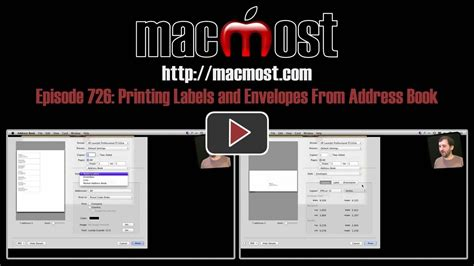 printing address labels from address book on mac macmost now 726 printing labels and envelopes from