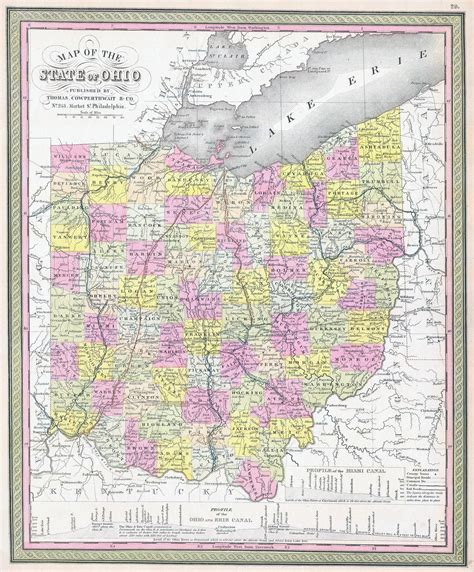 map of usa in 1850 large detailed administrative map of ohio state 1850
