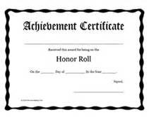printable honor roll awards certificates templates