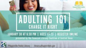 adulting 101: charge it right » pfun, tx