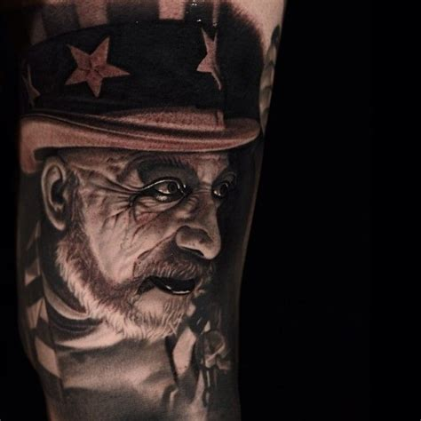 captain spaulding tattoo s rejects tattoos captain spaulding from the