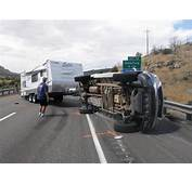 Truck Pulling Travel Trailer Overturns On I 15 – St George