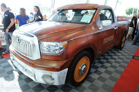 widebody tundra custom toyota tundra pickup raises 100 000 for charity at