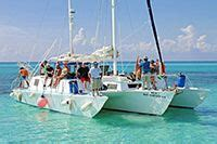 cozumel catamaran charter private catamaran charters for groups in cozumel mexico