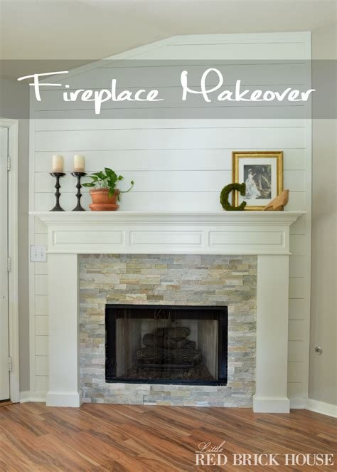 farmhouse fireplace makeover reveal brick house