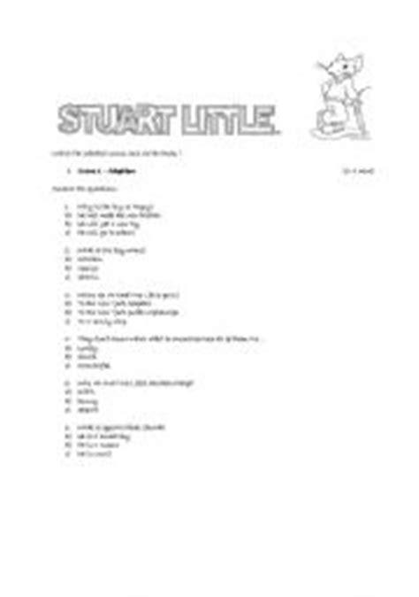 watching a movie: stuart little - ESL worksheet by blekia