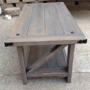 Rustic quot z quot coffee table do it yourself home projects from ana white