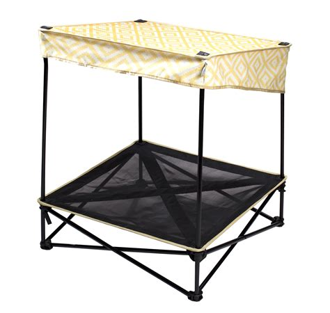 instant bed quik shade small instant pet shade with mesh bed yellow diamond pattern fitness