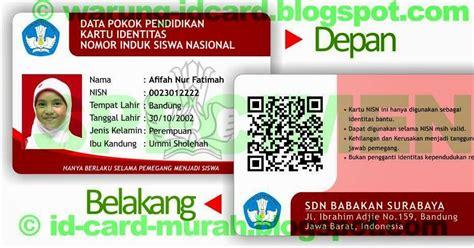 membuat id card bandung cara buat kartu nisn pakai qr code 081320607341 cetak id