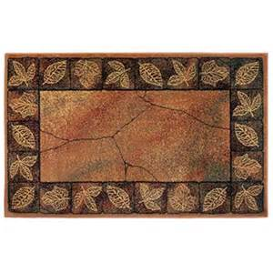 resistant rectangular hearth rug with leaves 30 quot x 50 quot