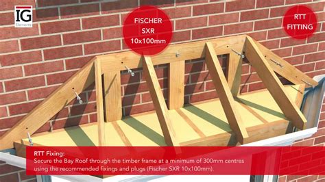 how to a bay how to install a grp bay roof ig elements