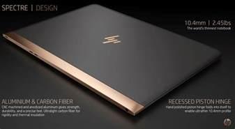 laptop le hp unveils spectre the world s thinnest laptop