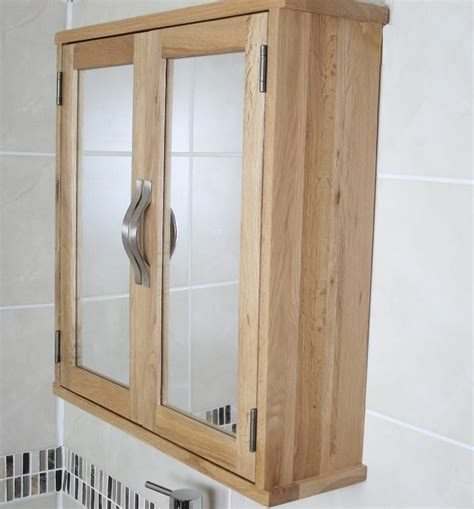 Solid Oak Wall Mounted Bathroom Cabinet 352