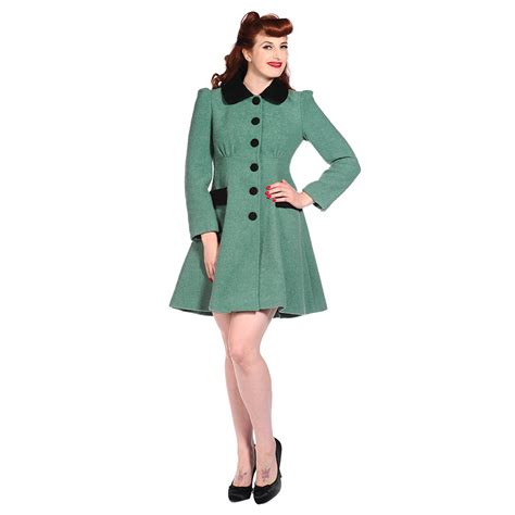 banned green wool vintage retro rockabilly pinup ww2 40s