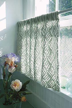 cafe curtain patterns dappled lace caf 233 curtain pattern yes they are knit